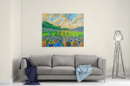 gay meadow on matchday  canvas a3 size